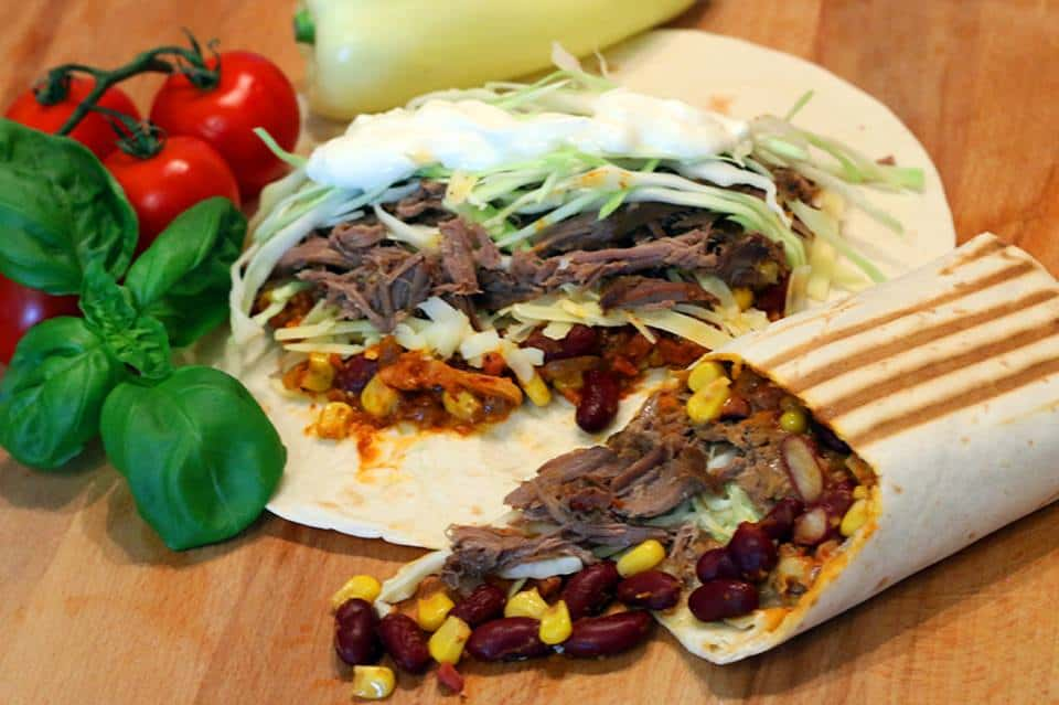Rezept Tex Mex Pulled Beef Wrap