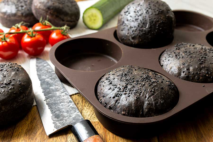 Rezept Black Burger Buns